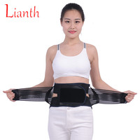 Breathable Waist Support Steel Plate Spine Belt Flexible Back Brace Bandage Self heating Back Band Lumbar Protector K300OLF