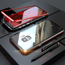 Роскошные Магнитный чехол для samsung Galaxy S9 плюс S8 Примечание 8 9 Стекло Cover Броня СПС samsung S9 Plus СПС samsung примечание 9 чехол