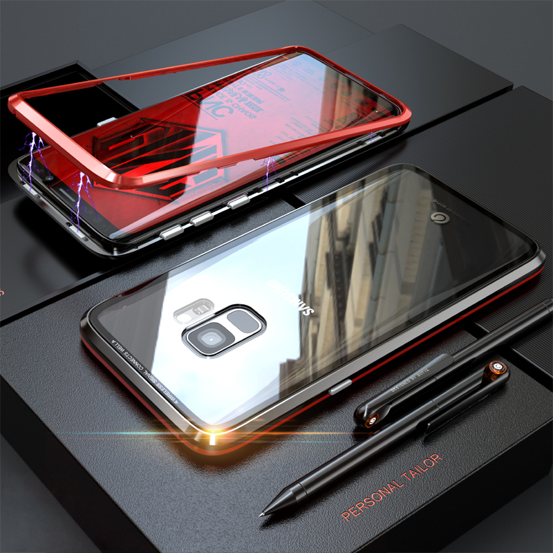 Luxus Magnetische Fall Für Samsung Galaxy S9 Plus S8 Hinweis 8 9 Abdeckung s sFor Samsung S9 Plus Fall sFor samsung Hinweis 9 Fall Note9
