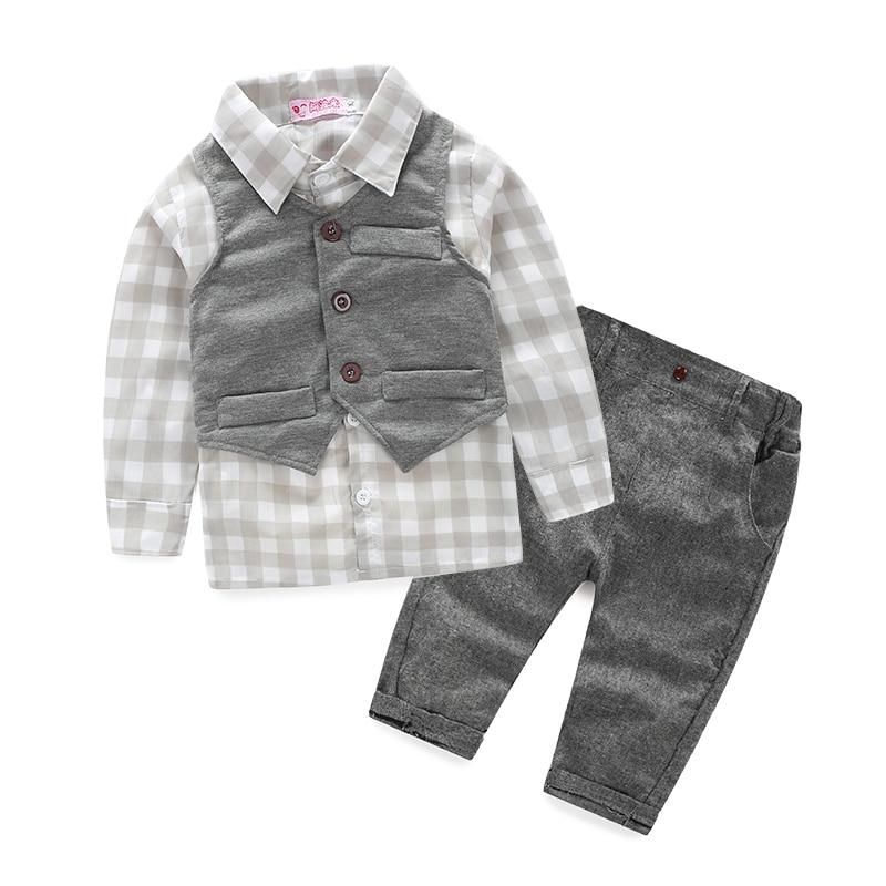 7c368ac5c65f new 2014 autumn Baby suit gentleman boys clothing set vest+long ...