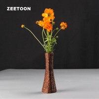 Japoński Ceramika ceramika Stół wazon kwiat Słomy tkania Wody układania Kwiatów, pulpit Kwiatów Handmade Rzemiosło Wystrój Domu