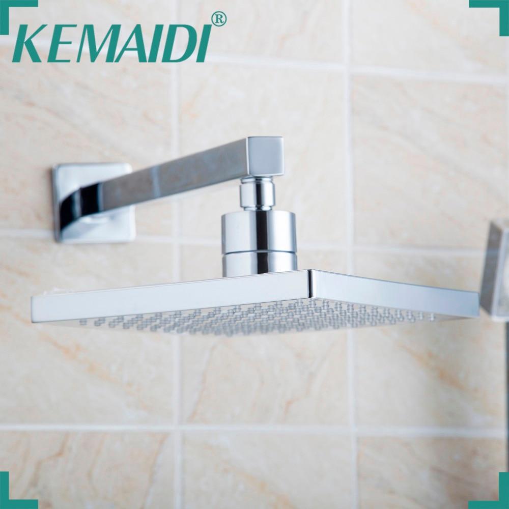 KEMAIDI livraison gratuite pomme de douche 8 pouces sans bras tête de douche en acier inoxydable avec bras de douche haut économie d'eau douche de pluie