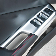 For Honda City Sedan 2014 2015 2016 ABS Chrome Door Window glass Lift Control Switch Panel accessories Cover Trim car Styling beler new 7pcs chrome car interior door window switch lift button cover trim for honda cr v vezel accord civic odyssey 2014 2015
