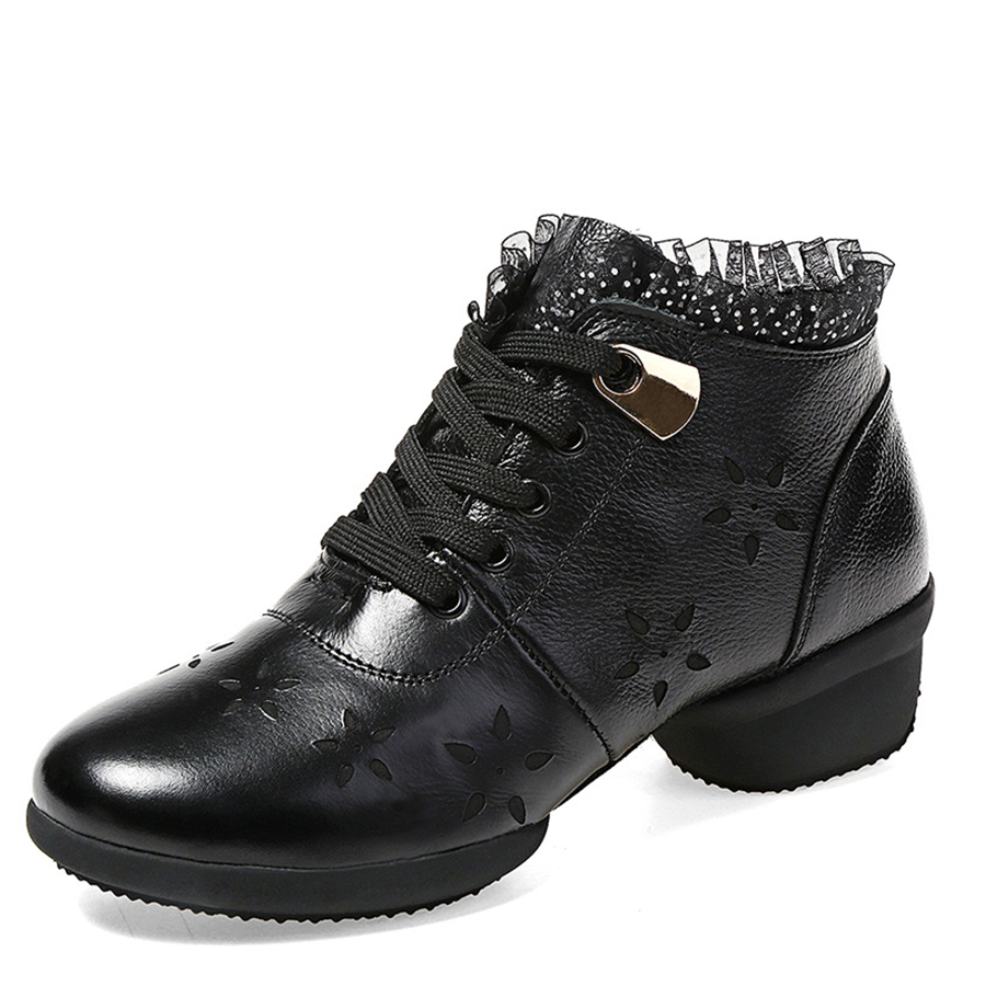 Fashion Genuine Leather Hollow Lace Style Winter Martin Boots Women Warm Snow Shoes Ankle Woman Bottine Ladies Platform Femme fashion genuine leather hollow lace style winter martin boots women warm snow shoes ankle woman bottine ladies platform femme
