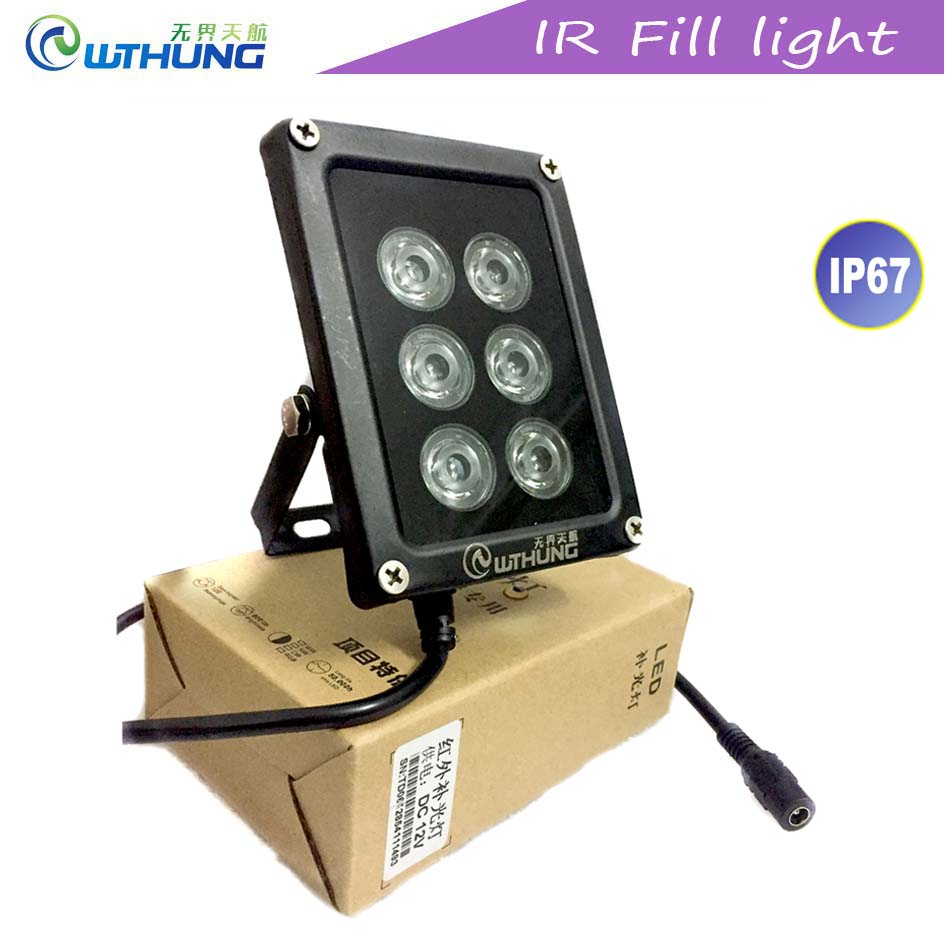 CCTV IR Led illuminator 850nm 6pcs Array infrared Led lamp Light IP67 waterproof Night Vision for Home Security monitor Camera 2017 promotion 48 led illuminator light ir infrared night vision assist led lamp for cctv surveillance camera white 850nm