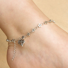 Women Silver Bead Chain Anklet Ankle Bracelet Barefoot Sandal Beach Foot Jewelry Fashion Accessory