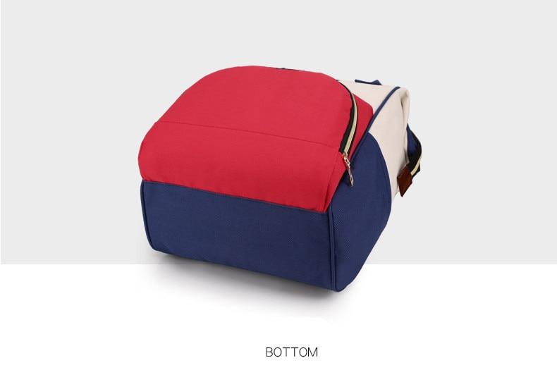 HTB18eYeXq5s3KVjSZFNq6AD3FXa0 Multi-Function Mummy Maternity Nappy Bag Fashion Patchwork Large Capacity Baby Bag Travel Backpack Nursing Bag for Mom Designer
