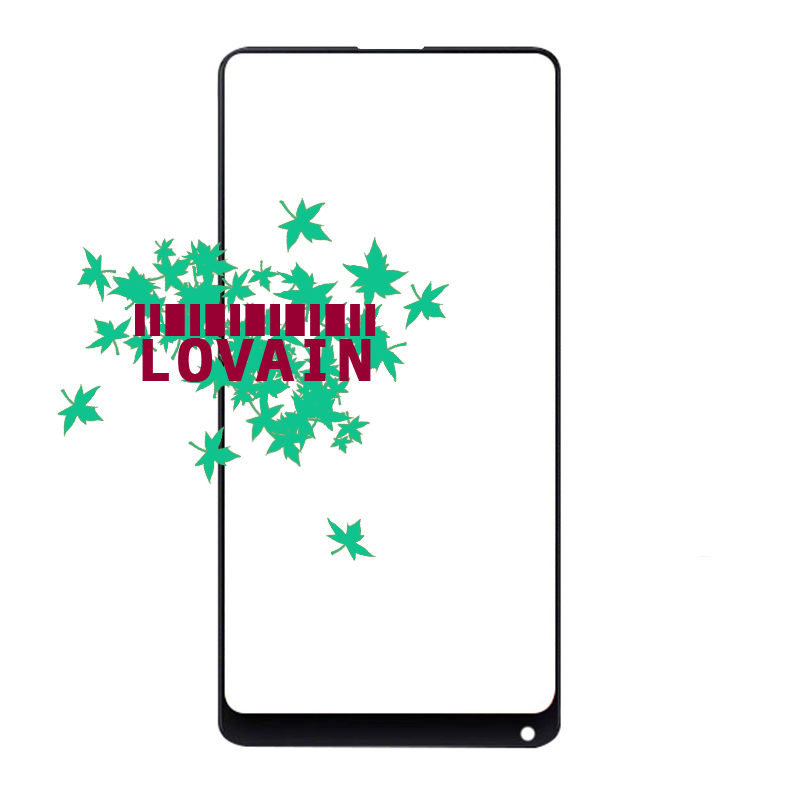 LOVAIN 10PCS Black White Genuine Original For Xiaomi Mix 2 Mi Mix Evo Front Glass Lens