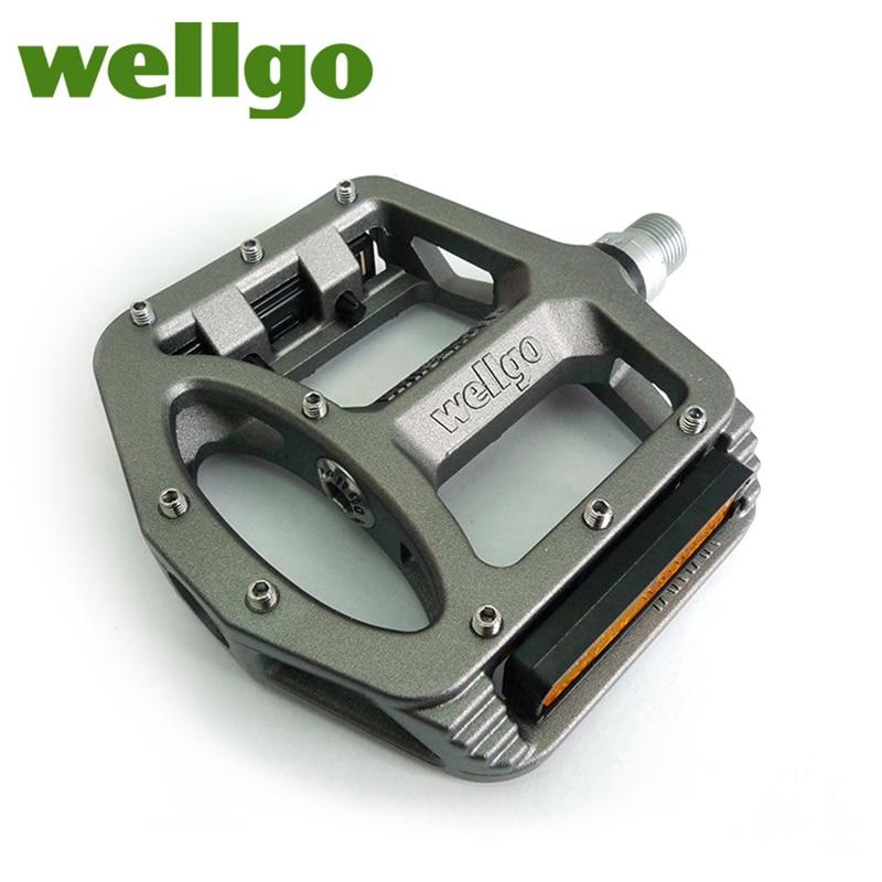 Pédales vtt Wellgo 2 pédales de vélo à roulements scellés pour pédales de VTT de route bmx larges pédales de cyclisme en alliage de magnésium MG-1 - 3
