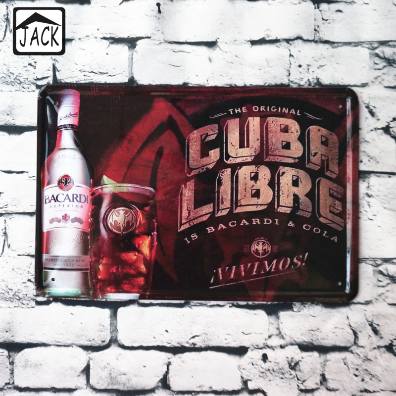 Beer Wine Advertising Vintage Home Decor Metal Tin Signs