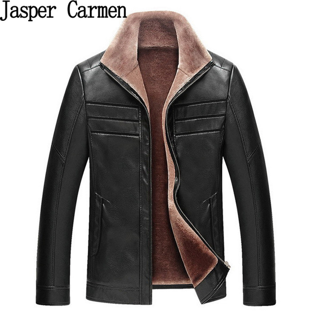 free shipping 2017 New Winter Male Leather Jacket Men's  Coat Casual Thickening Warm leathing clothing men Size M-XXXL198