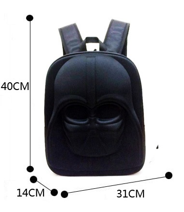 Star Wars Backpack for Teenagers Boys Girls 3D Black Knight White Soldiers School Backpack Childrens Cartoon 3D Bags for School