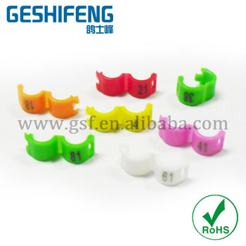 free shipping 100pc 2.7mm numbered 1-100 clip ring  for finch
