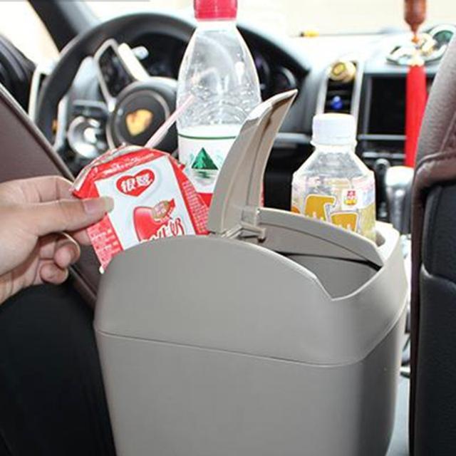 Multifunción 3 en 1 de Taza Del Coche Sostenedor de la Bebida Botella de Basura Puede cubo de Basura cubo de Basura cubo de Basura Portátil Vehículo Organizador Bin