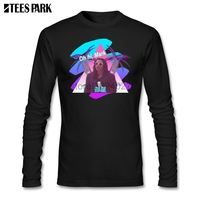 Vaporwave The Room Roomjapanese T shirt Men's Printed Round Neck Long Sleeve Tees Men Clothing Casual T Shirts Tops
