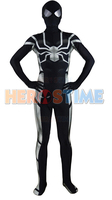 (SM8302) Nero Lycra Spandex Spiderman Costume Modello Zentai Suit Costume di Holloween