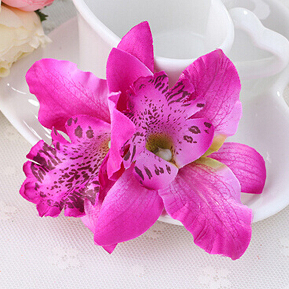 6 Colors Bohemia Style Orchid Peony Bridal Flowers Hair Clips Hairpins Barrette For Wedding Decoration Hair Accessories