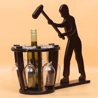 D творческий домашнего интерьера Европейский вино рамка украшение, украшение дома деревянный шкаф гостиная ТВ кабинета