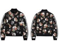 ZOGAA 2019 skulls print women jacket o-neck chaqueta mujer extra size casaco feminino