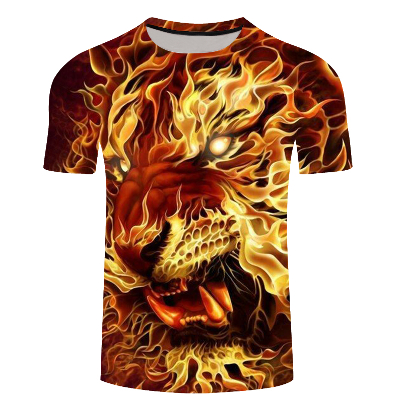 Brand 3d T-shirt Animal Lion Shirt 3d T Shirt Men Funny T Shirts Mens Clothing Casual Fitness TeeTop Tiger Tshirt