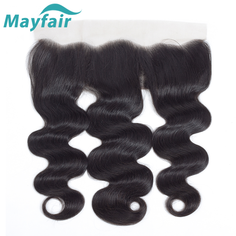 Mayfair Remy Human Hair Bundles With Frontal Peruvian Hair 3/4 Bundles Body Wave With Closure Lace Frontal With Bundles Deals