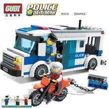 GUDI City police Series Educational diy Building Blocks Kids Toy Compatible With Legoe Birthday Gift Brinquedos for boy 9313