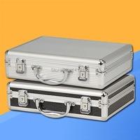 Freies verschiffen Tragbare aluminium toolbox instrument fall medizin ausrüstung teil werkzeugkoffer Kosmetischen Box werkzeug Datei box verpackung Werkzeugkoffer Werkzeug -