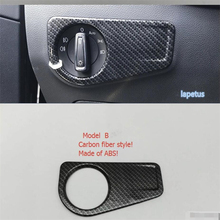 New Style ! 2 Color For Volkswagen VW Tiguan 2016 2017 ABS Front Head Light Lamp Switch Button Cover Kit Trim Strip 1 Pcs fashionable replacement steel exhause for vw tiguan silver blue 2 pcs