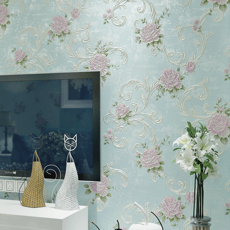 Beibehang High quality 3D relief rose wallpaper hotel home decor living room bedroom background 3d wallpaper papel de parede beibehang 3d high quality continental relief wallpaper high living living room bedroom 3d wallpaper tv background wallpaper roll