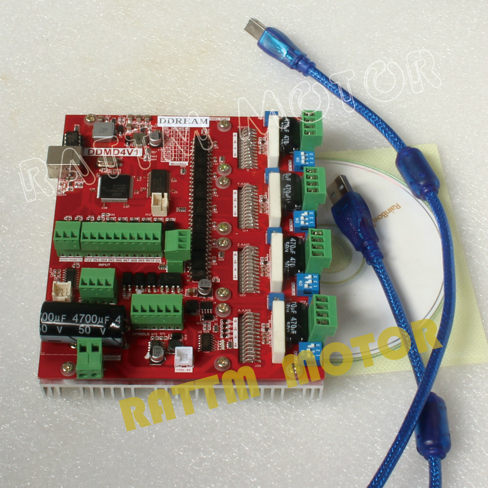 CNC puissant 200KHZ 4 axes USB MACH3 carte pilote CNC carte contrôleur 4A courant V type