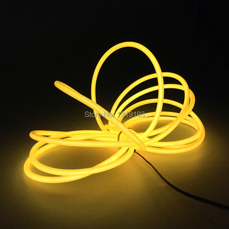 10 Meters 5.0mm LED Strip Neon thread Flexible Neon Glow Light EL Wire Rope Tube For Car,Garden,Party Decoration+DC5V USB Driver