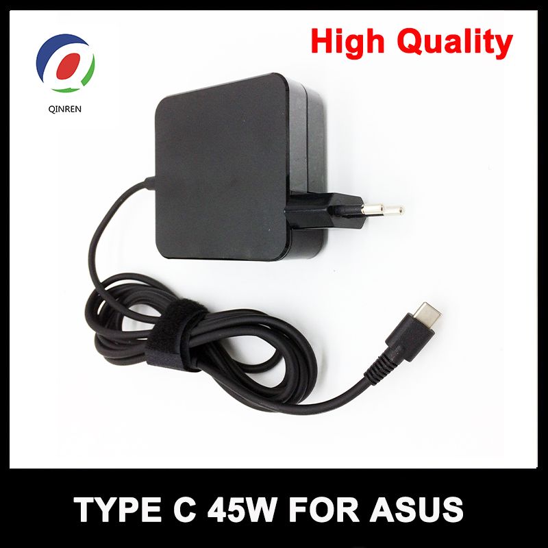 QINERN 20V 2.25A 45W Power Adapter Charger for Asus Zenbook 3 Tablet Type C Laptop Adapter Power Supplies Pour ASUS EU UK