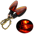 Universal Motorcycle Turn Signal Indicator Light Lamp Amber Bulb Blinker