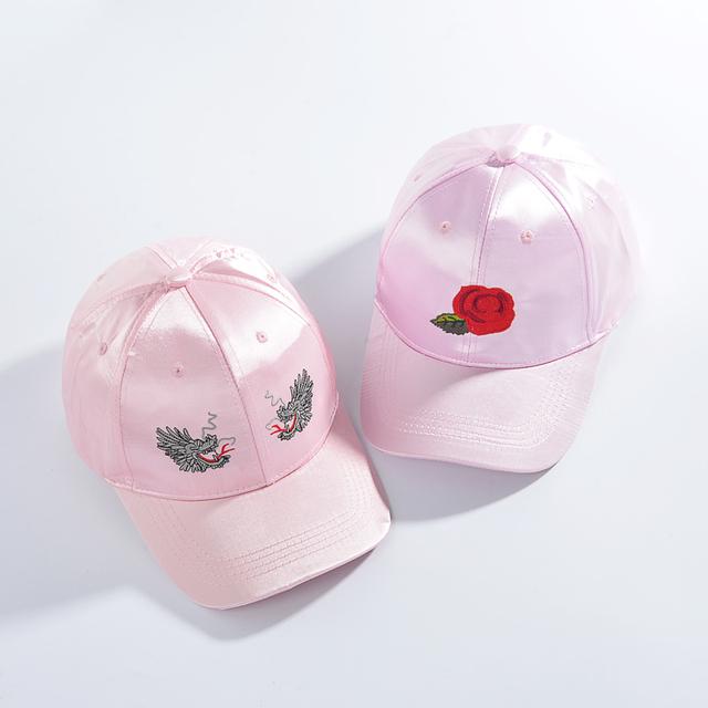 2017 nova rosa snapback bonés de beisebol para mulheres hip hop cap chapéu gorras casquette bordado floral poliéster verão ajustável