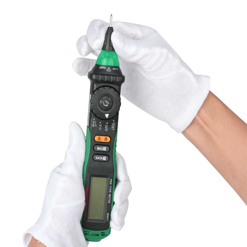Clip On Voltage Tester : Mastech ms pen type digital multimeter non contact ac