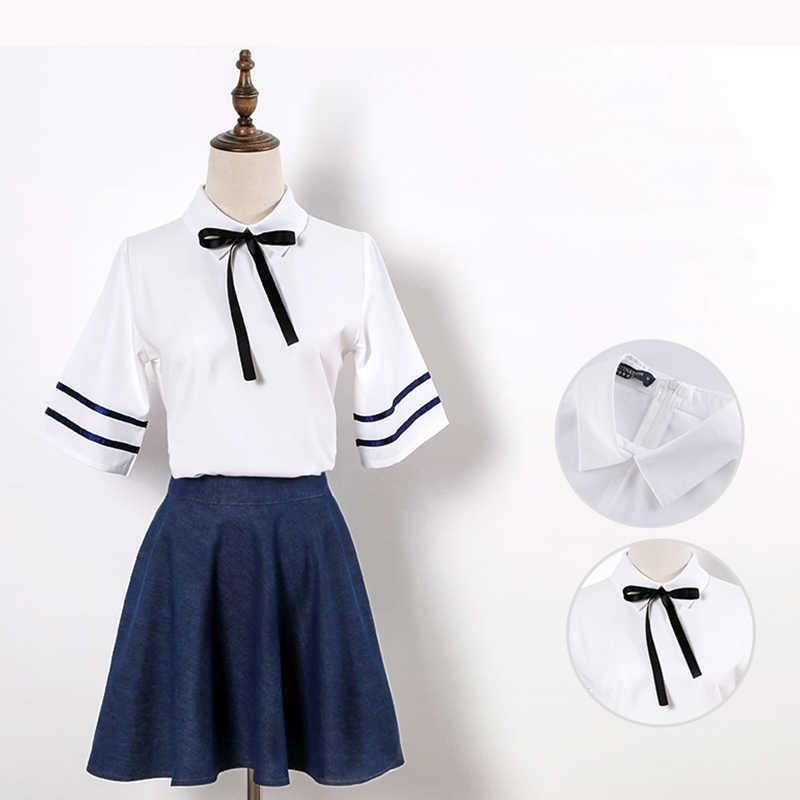 ROLECOS Japanse JK Schooluniform Cosplay Kostuum Unisex Wit Shirt met Rok voor Unisex Cosplay Kostuum Uniform vol Sets