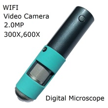 Best price WIFI Wireless 300X and 600X  Digital Microscope Skin Analyser Hair Detector With 2.0MP Camera 720P for Smartphone PC TV Display