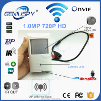 Camhi Pir Style HD 720P Surveillance Wireless WiFi P2P Onvif Network Pinhole IR IP Camera CCTV
