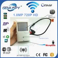 Camhi Pir Style HD 720P Surveillance Wireless WiFi P2P Onvif Network Pinhole IR IP Camera CCTV