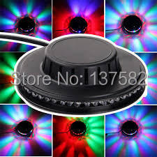 Wholesale-8W 90-240V Micro Rotating RGB Lamp 48 LEDs Sunflower LED Stage Lamp With Retail Package DHL Free Shipping