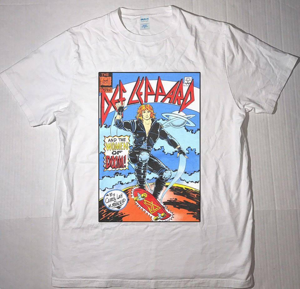 Def Leppard BROKEN GLASS Logo Licensed Juniors V-Neck Tee Shirt