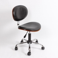 Solid Wood Backrest Small Computer Chair No Armrest Small Swivel Chair Desk Lift Worker Chair