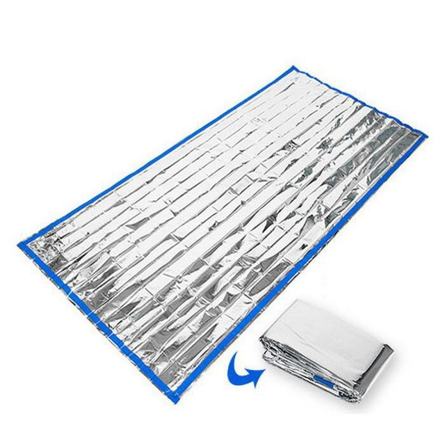 200x100CM PET Emergency Sleeping bag mat Outdoor hiking First Aid Survival kit Camping Mat Pad cover shelter Safety Blankets