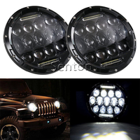Hi/low Beam 75w 7 Inch Round Led Headlight 7 75w Round LED head light lamp with white DRL for Harley for Jeep Wrangler