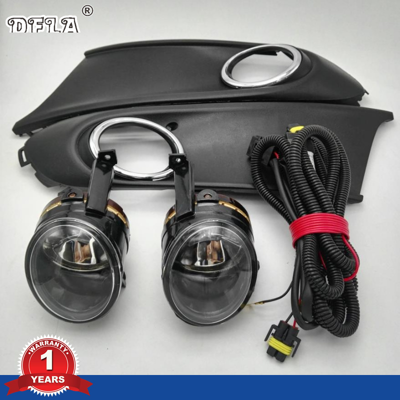 Car Light For VW Polo Vento Sedan Saloon 2011 2012 2013 2014 2015 2016 Fog Light Fog Lamp Fog Light Cover And Harness Assembly right side for vw polo vento derby 2014 2015 2016 2017 front halogen fog light fog lamp assembly two holes