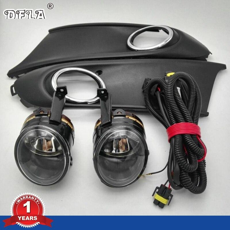 Luz del coche para VW Polo Vento Sedan 2011 2012 2013 2014 2015 2016 Luz de niebla cubierta y arnés