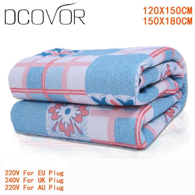 Одеяло плюшевое, одеяло с двойным подогревом, защитное электрическое одеяло, толстый одиночный электрический коврик, обогреватель тела для...