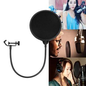 Image 2 - Micro Flexible vent écran Pop filtre Portable Studio enregistrement parlant chant condensateur Microphone filtre montage masque