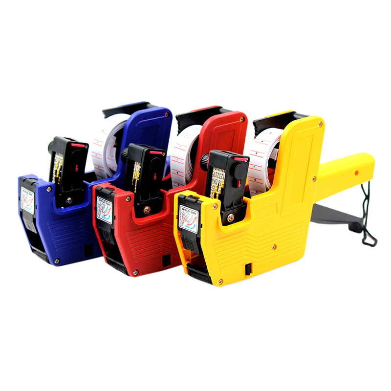 High Quality New MX-5500 8 Digits EOS Price Gun +1Roll Labels + 1Ink Label Maker Red Yellow Blue Random