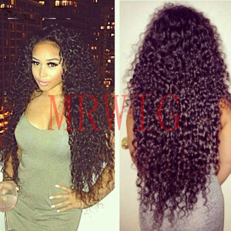 MRWIG synthetic wigs for black women kinky curly 26inch free part womens wigs baby hair 180%high density heat resistant fiber